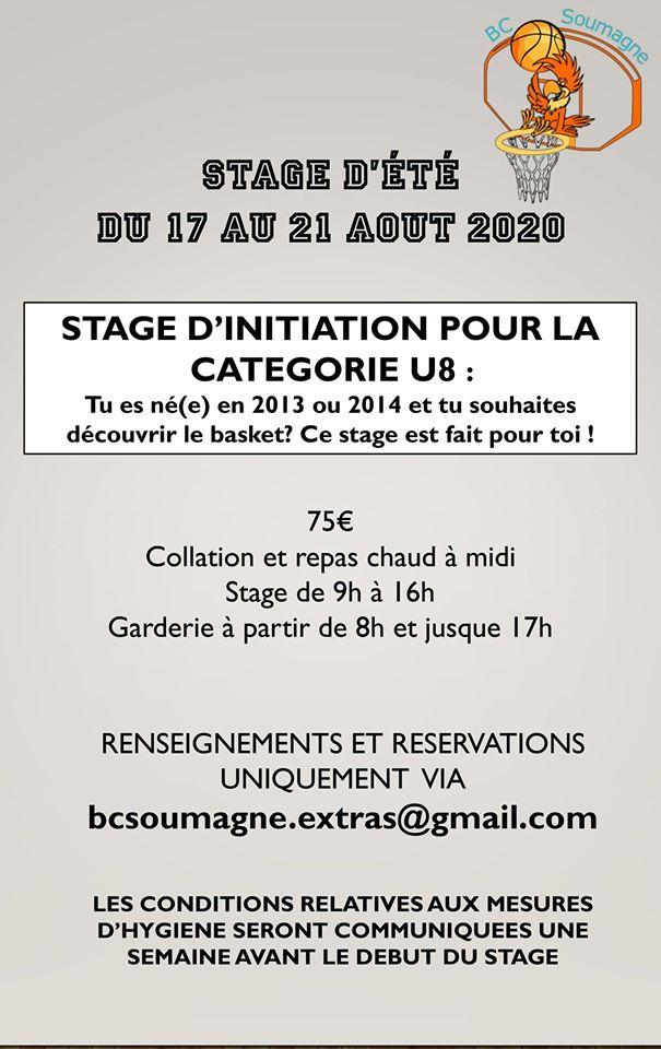 Affiche stage aout 2020